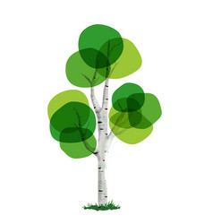 Green tree concept hand drawn style vector