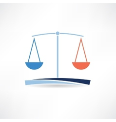 Law abstract icon vector