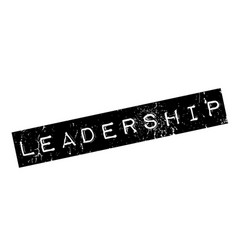 leadership rubber stamp vector image