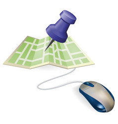 mouse and map concept vector image vector image