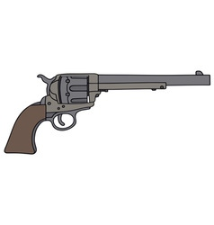 Old american handgun vector