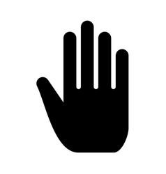 open human hand vector image vector image
