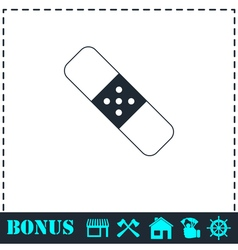 Plaster icon flat vector