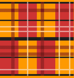 red and orange tartan vector image vector image