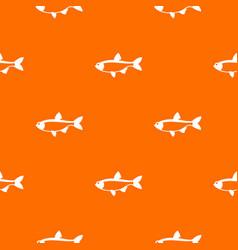 rudd fish pattern seamless vector image vector image