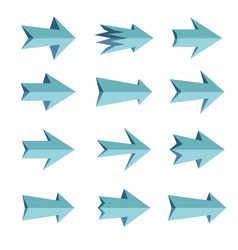 set of arrows vector image vector image