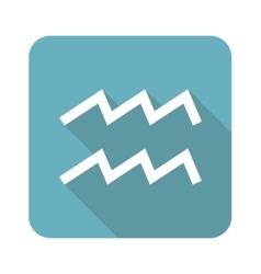 Square Aquarius icon vector image vector image