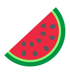 Watermelon flat icon fruit and diet vector