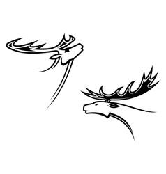 Wild deer mascots vector image