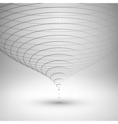 Wireframe mesh element the funnel consisting of vector