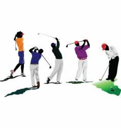 golfers vector image
