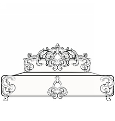 Baroque royal bed with ornaments vector