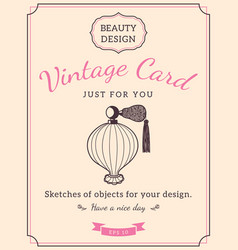 sketch perfume bottle and text vector image