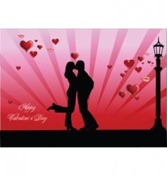 valentine kiss vector image
