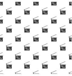 Clapperboard pattern vector