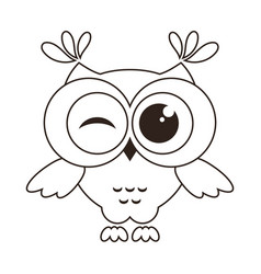 Funny owl isolated on white vector
