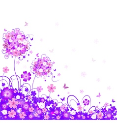 Floral lilac background vector