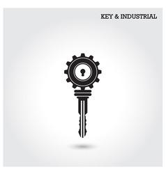 Key and industry sign vector image