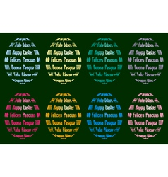 Easter egg silhouettes from various languages vector