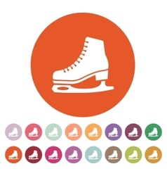 The skates icon figure skates symbol flat vector