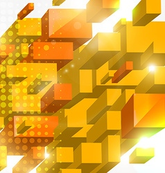 3d squared background vector