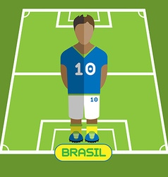 Computer game brasil football club player vector