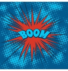 Boom comics icon in pop-art style vector