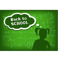 back to school girl speech and thought vector image