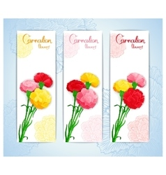Banner design with bouquet of cloves vector