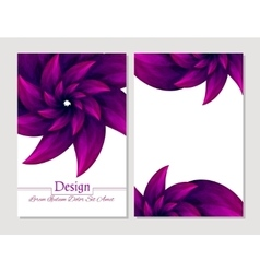 Beauty brochure crimson and white colors vector