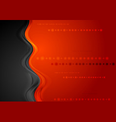 Bright shiny wave background vector