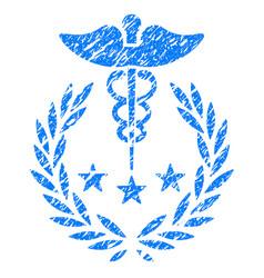 Caduceus logo grunge icon vector