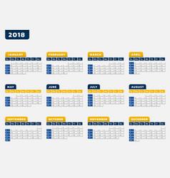 calendar office design vector image