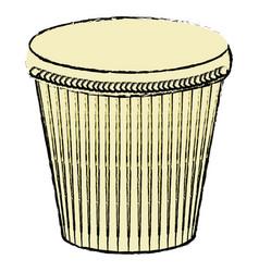 Carnival bongo isolated icon vector