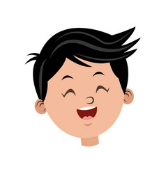 cartoon character face boy children vector image vector image