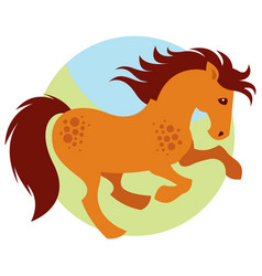 Cartoon galloping horse vector