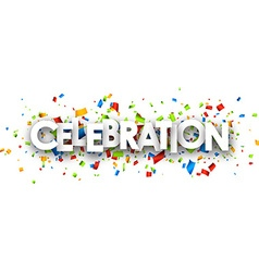 Celebration paper banner vector
