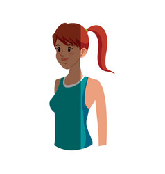 character girl sport fitness clothes vector image vector image