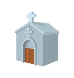 Crypt in cemetery cartoon icon vector