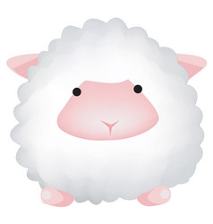 cute sheep isolated on white background farm vector image vector image