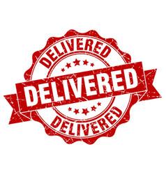 Delivered stamp sign seal vector
