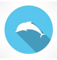 Dolphin icon vector