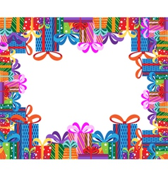 Gifts frame vector