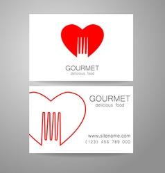 gourmet food logo vector image vector image