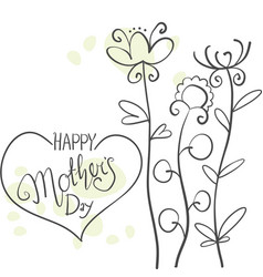 happy mother day background style vector image vector image