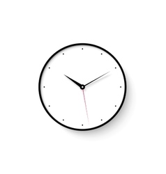 Icon of white clock face with shadow on wall vector image