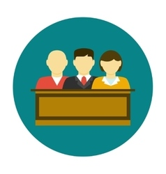 Jury icon flat vector image vector image