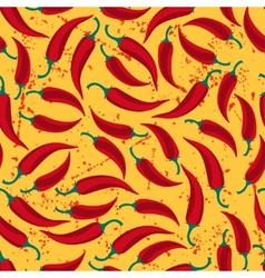 Mexican seamless pattern with chili and old vector