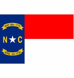 north carolina state flag vector image vector image