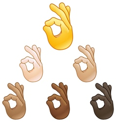 ok hand sign emoji vector image